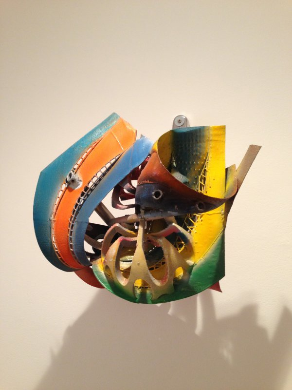 Frank Stella, K.79, 2010, titanium, polyurethane enamel and hand spray painted by artist, 14 x 14 x 11 inches