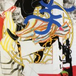 Frank Stella, The Hyena, 1985–89, linoleum block with hand-coloring, collage, silkscreen and lithograph, 67 ¾ x 54 ½ in; ed. 60