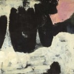 James Brooks, Z, 1954, oil and crayon on Osnaburg canvas;