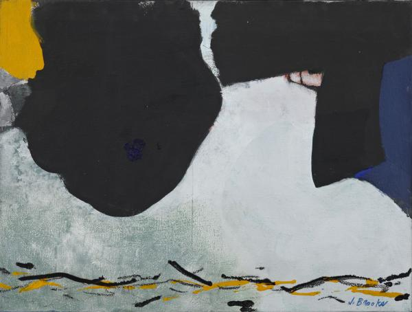 James Brooks, Barabb, 1979, acrylic on canvas, 24 x 32 inches.