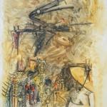 Wilfredo Lam, Femme Enigmatique 1970, oil on canvas, 63 x 51 inches.