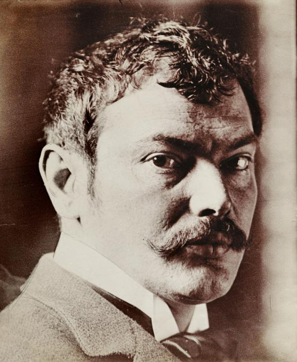 Anonymous photograph of Franz von Stuck, 1896.