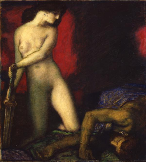 Franz von Stuck, Judith and Holofernes, 1927, oil on panel;