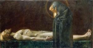 Franz von Stuck, Pietai, 1891, oil on canvas.