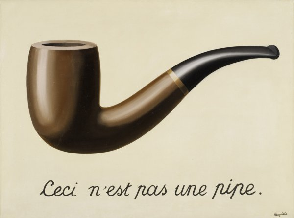 René Magritte, La trahison des images (Ceci n'est pas une pipe) (The Treachery of Images [This is Not a Pipe]), 1929, oil on canvas.