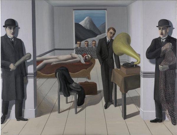 René Magritte, L'assassin menacé (The Menaced Assassin), 1927, oil on canvas;