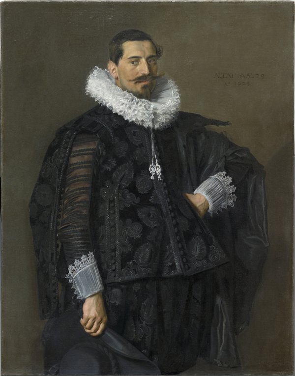 Frans Hals, Portrait of Jacob Olycan (1596–1638), 1625, Oil on canvas, 49 1/8 x 38 3/8 in.