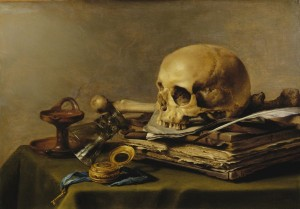 Pieter Claesz, Vanitas Still Life, 1630, oil on panel;