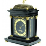 Exceptionally early English-made ebony bracket clock by Ahasuerus Fromanteel, which holds the house record for a clock at Bonhams.