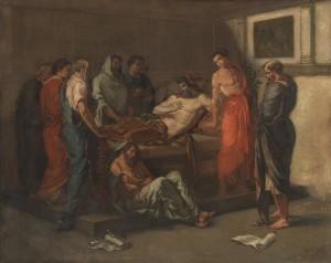 Eugène Delacroix, The Last Words of Marcus Aurelius, oil on canvas.