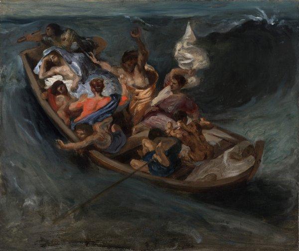 Eugène Delacroix, Christ on the Sea of Galilee, circa 1841, oil on canvas;