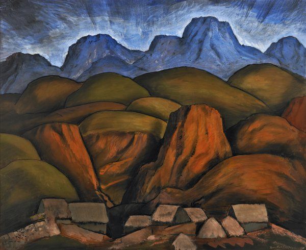 Alfredo Ramos Martínez, Mexican Landscape, circa 1935, watercolor and charcoal on paper.