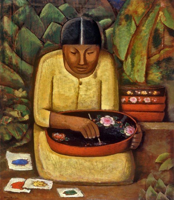 Alfredo Ramos Martínez, Uruapan Painter (La Pintora de Uruapan), circa 1930, oil on board;