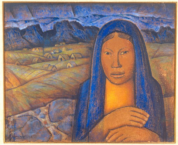 Alfredo Ramos Martínez, La India del pueblo (Indian Woman from the Small Town), circa 1930, oil on board