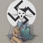 Art Spiegelman, Final cover art, Maus I, first edition, c. 1986, ink, color pencil, and pencil on paper