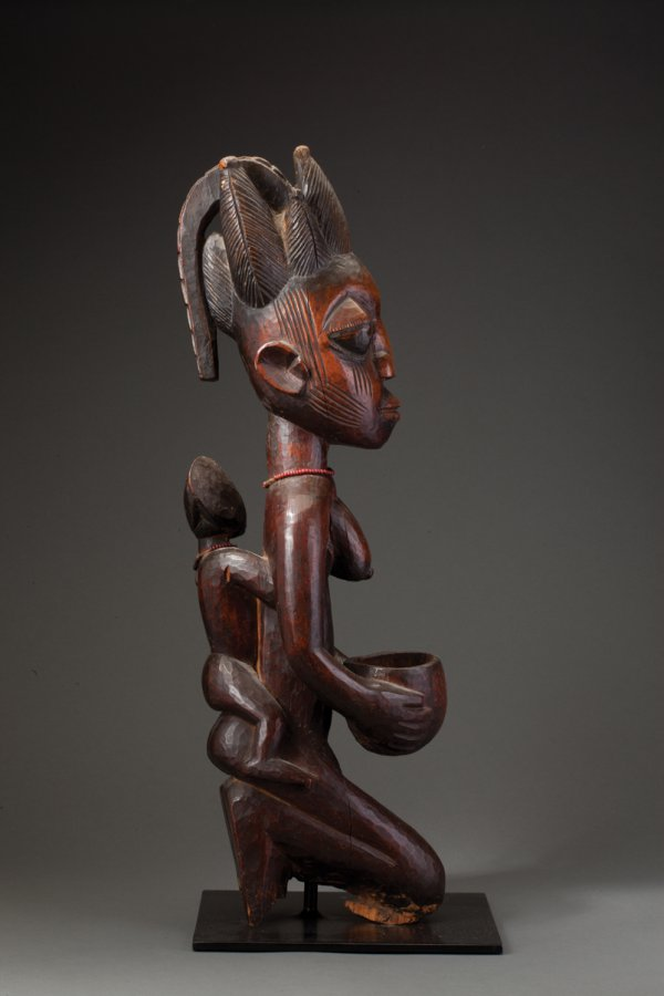 Yoruba maternity figure with bowl