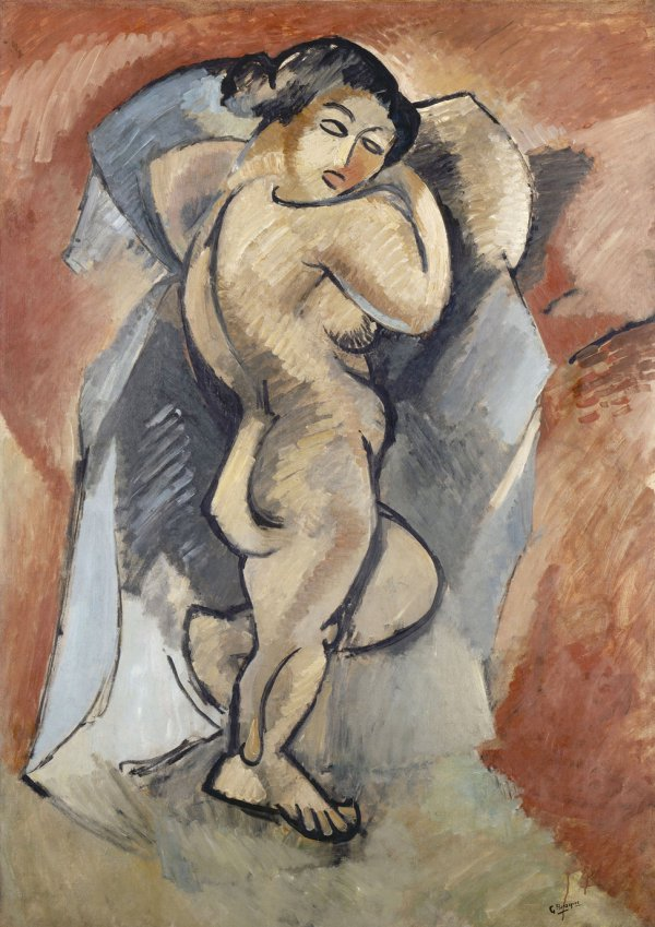 Georges Braque, Grand Nu (Great Nude), 1907–1908, oil on canvas;