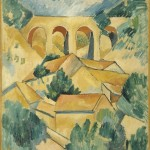 Georges Braque, Le viaduct de l'Estaque (Estaque Viaduct), 1908, oil on canvas;