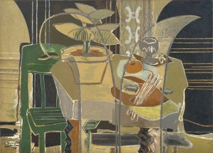 Georges Braque, Grand intérieur à la palette (Large Interior with Palette), 1942, oil and sand on canvas.