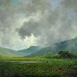 Jules Tavernier, April Showers, Napa Valley, circa 1880, oil on canvas, 20 x 30 inches