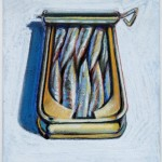 Wayne Thiebaud, Untitled (Sardines),1964, pastel on paper, 7 ¾ x 6 3/8 inches;