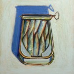 Wayne Thiebaud, Sardines, 1962, oil on canvas, 12 ¼ x 9 ½ inches;