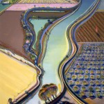 Wayne Thiebaud, Winding River, 2002, acrylic on canvas, 72 x 60 inches;
