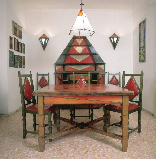 Gerardo Dottori, Cimino Home Dining Room Set, early 1930s;