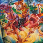 Umberto Boccioni, Elasticity (Elasticità), 1912, oil on canvas, 100 x 100 cm;