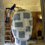 Jun Kaneko at work in his studio