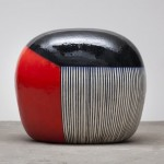 Jun Kaneko, Untitled, 2012, glazed ceramics, 39.5 x 46 x 34.5 inches.