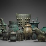 Group of 14 bronzes from the collection of Daniel Shapiro, being offered by J.J. Lally & Co. of New York.