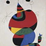 Joan Miró, Woman, Bird and Star (Homage to Picasso), February 15, 1966 / april 3-8, 1973, oil on canvas;