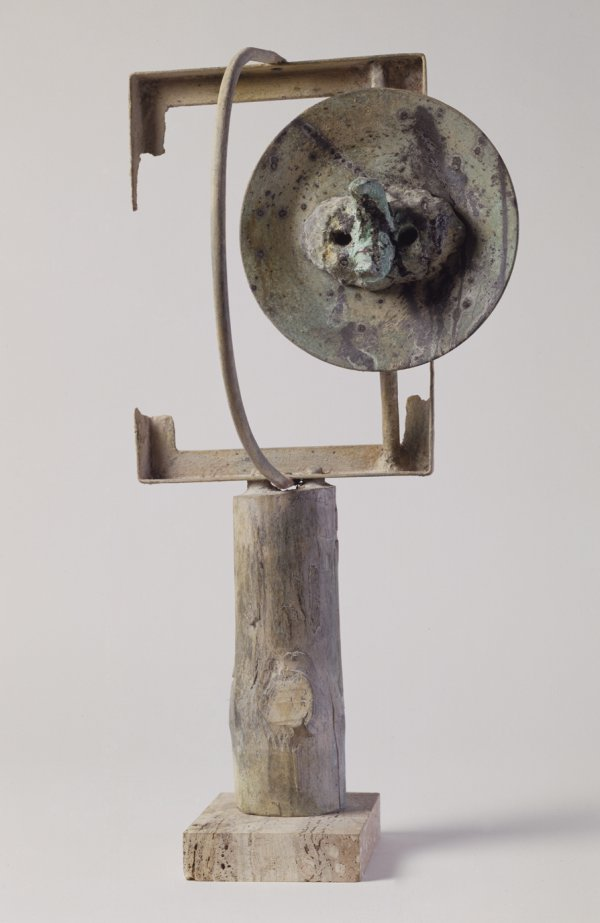 Joan Miro, Head in the Night, 1968, lost-wax casting, patinated bronze.