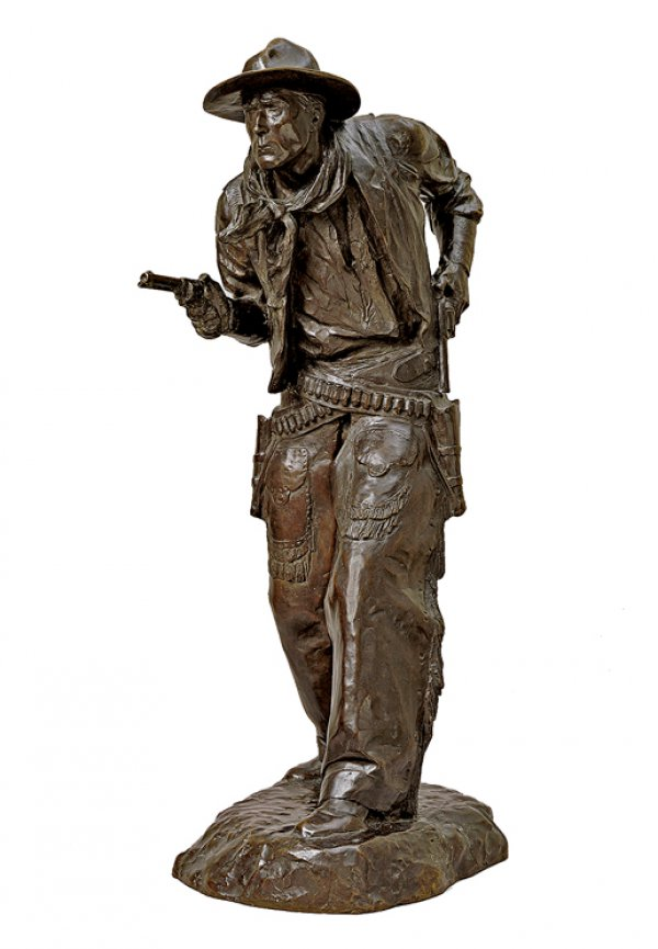Charles Cristadoro, Two Gun Bill (William S. Hart), 1917 (cast 1925 or after), 37 7/8 x 12 x 19 inches.
