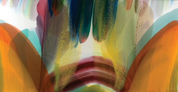 Paul Jenkins, Phenomena Shooting the Sun, 1978, acrylic on canvas, 77 x 148 inches.