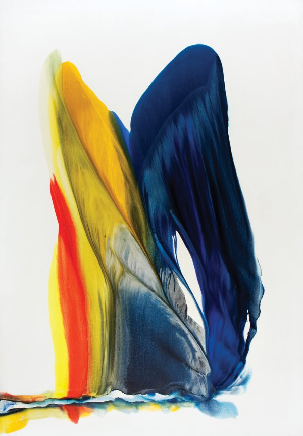 Paul Jenkins, Phenomena Samothrace Arch, 1973, acrylic on canvas, 96 x 67 inches.