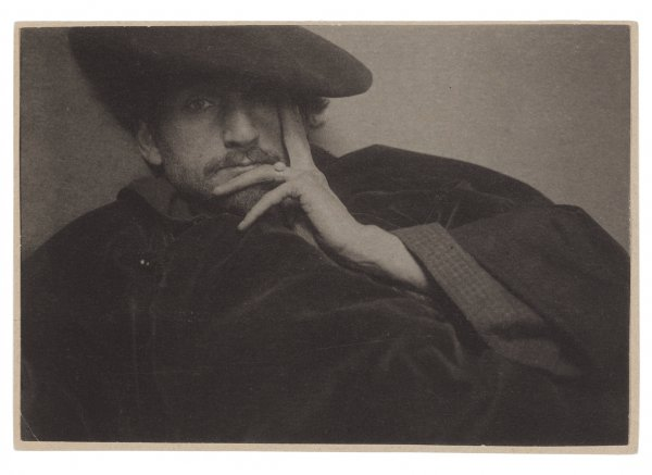 Edward Steichen, Solitude (Portrait of F. Holland Day), 1901, platinum print.