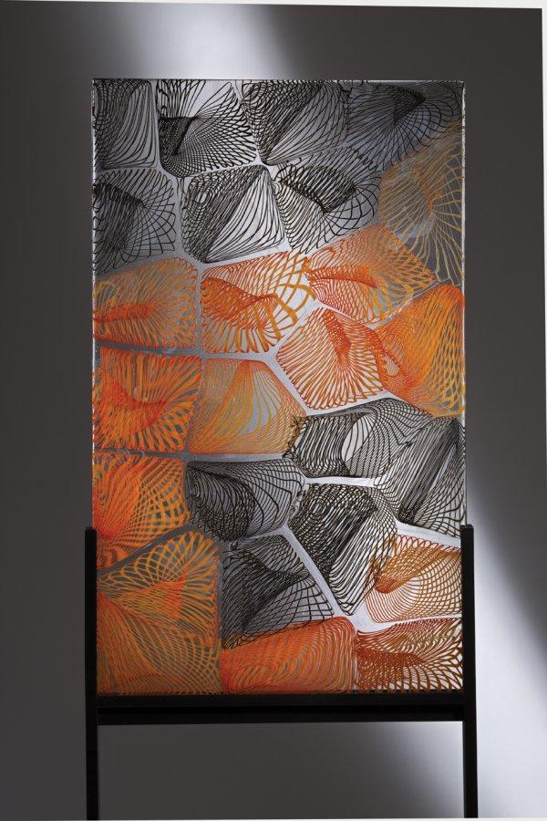 Lino Tagliapietra, Spazio Poetica, 2013, 39 ¾ x 24 x ¼ inches.