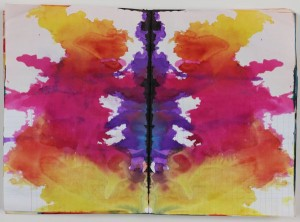 Sigmar Polke, Untitled (Rorschach), c. 1999, colored ink in bound notebook, 192 pages;