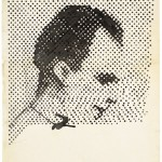 Sigmar Polke, Raster Drawing (Portrait of Lee Harvey Oswald), 1963 , poster, paint and pencil on paper.