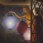 George Tooker, in the Summerhouse, 1958, egg tempera;