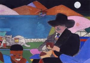 Richard Merkin, Gertrude and George, 1979, pastel;