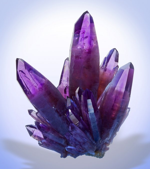 Amethyst, La Sopressa Mine, Amatitlan, Guerrero, Mexico, 5 inches tall.