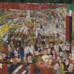 James Ensor, Christ's Entry into Brussels in 1889, 1888, oil on canvas;