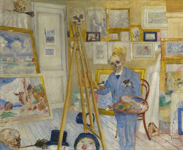 James Ensor, Skeleton Painting, 1895 or 1896, oil on panel;