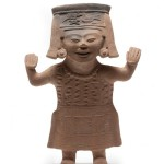 Smiling figurine, South Central Veracruz, Superior Classic, 600–900 A.D., clay.