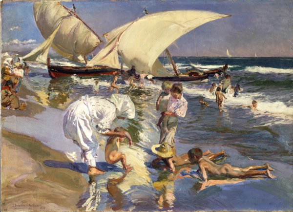 Joaquín Sorolla y Bastida, Valencia Beach: Morning Light, oil on canvas, 1908.