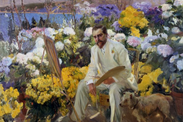 Joaquín Sorolla y Bastida, Portrait of Louis Comfort Tiffany, 1911, oil on canvas.