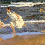 Joaquín Sorolla y Bastida, Running Along the Beach, 1908, oil on canvas.